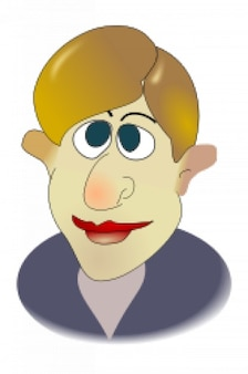 El hombre de dibujos animados portre