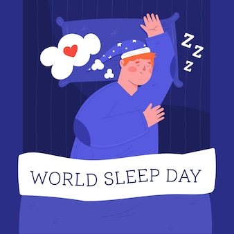Hombre durmiendo día mundial del sueño