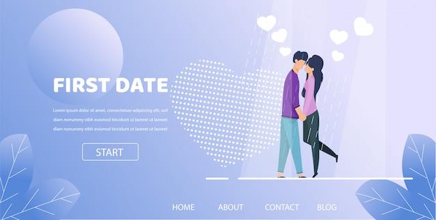 Hombre espera mano mujer romántica noche ilustración