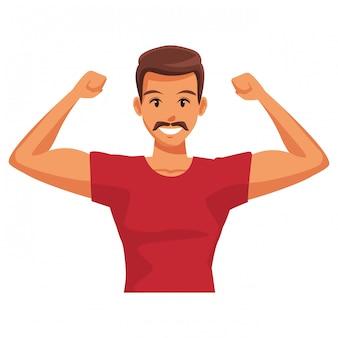 Hombre en forma haciendo ejercicio