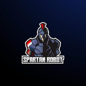 Hombre fuerte de metal de arte espartano