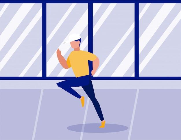 Hombre haciendo ejercicios en casa
