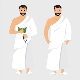 Hombre hajj ilustraciones