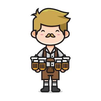 Hombre lindo en el día internacional de la cerveza