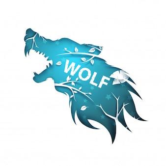 Hombre lobo, lobo, perro, cuervo cuervo