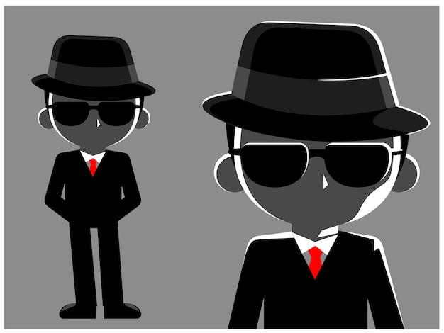 Un hombre misterioso en traje negro