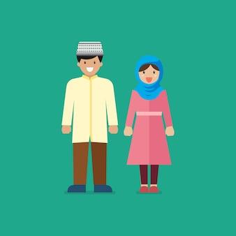 Hombre y mujer musulmana