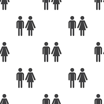 Hombre y mujer, patrón transparente de vector, editable se puede utilizar para fondos de páginas web, rellenos de patrón