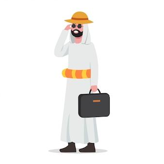Hombre de negocios árabe tomar vacaciones