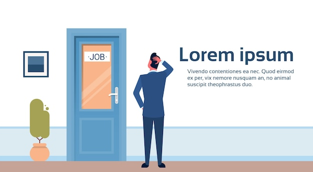 Hombre de negocios buscando trabajo