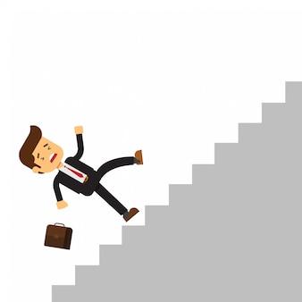 Hombre de negocios caer