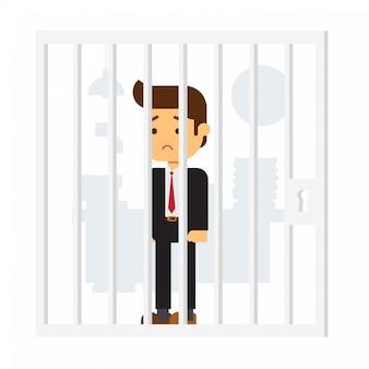 Hombre de negocios en la cárcel
