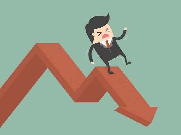 Hombre de negocios cayendo