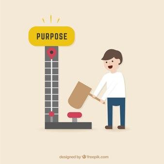 Hombre de negocios consiguiendo su propósito