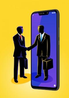 Hombre de negocios dándose la mano