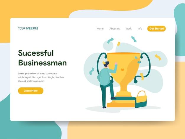 Hombre de negocios exitoso para la página web