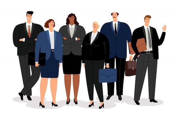 Hombre de negocios y mujeres
