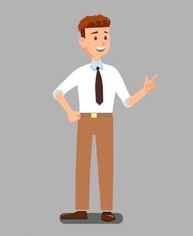 Hombre de negocios o profesor de ropa oficial.