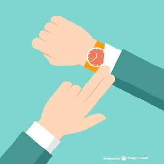 Hombre de negocios con reloj de pulsera