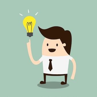 Hombre de negocios teniendo una idea