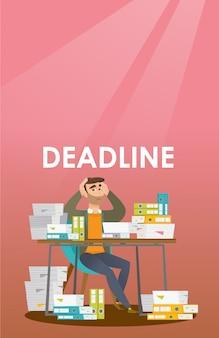 El hombre de negocios tiene un problema con una fecha límite.