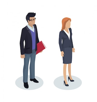 Hombre de negocios working people illustration