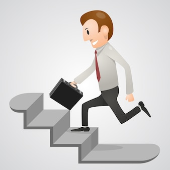 Hombre de oficina con prisa. ilustración vectorial