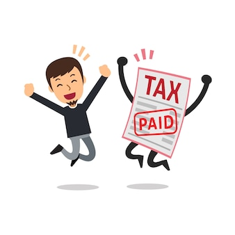 Hombre pagado impuesto