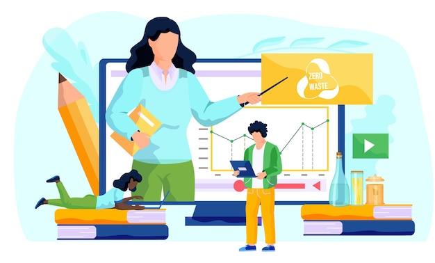 El hombre está parado con una computadora portátil en sus manos y trabaja o estudia en línea en su computadora