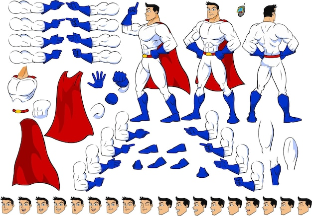 Hombre superhéroe