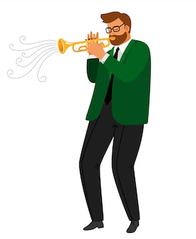Hombre tocando trompeta