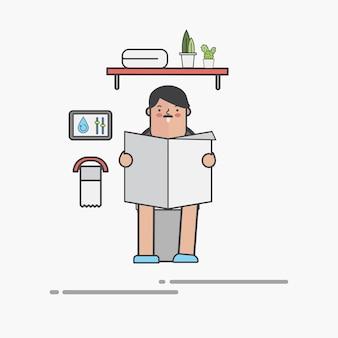 Hombre en wc