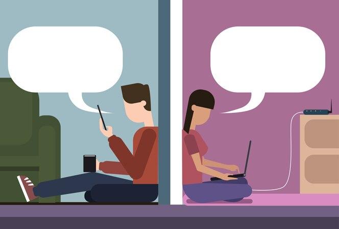medios de comunicación social llamada chica trabajo de mano
