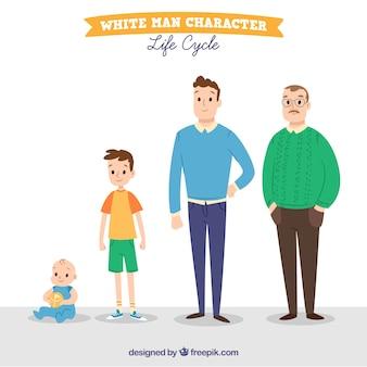 Hombres en diferentes edades