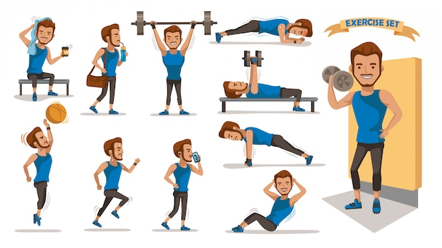 Hombres de ejercicio