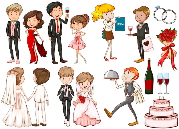Hombres y mujeres en la fiesta