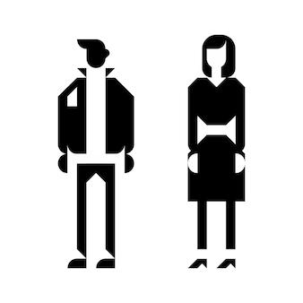 Hombres mujeres icono aseo baño signo
