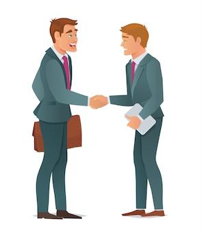 Hombres de negocios de apretón de manos