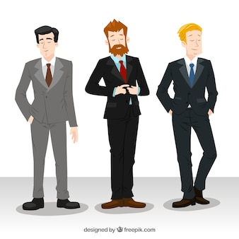 Hombres de negocios elegantes