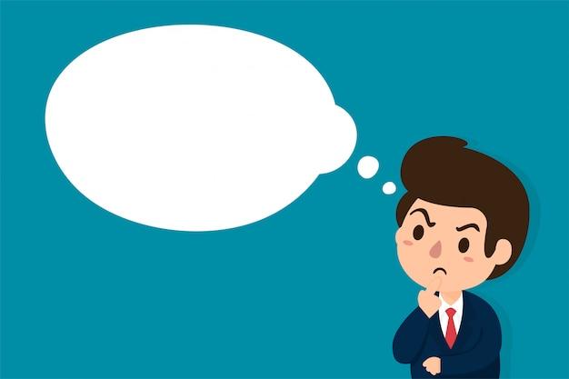 Hombres de negocios que son escépticos