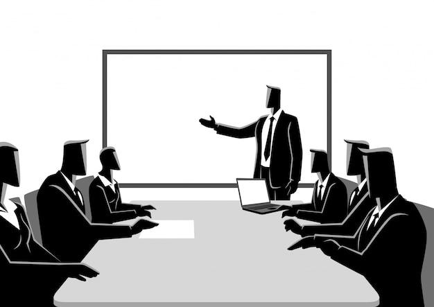 Hombres de negocios que tienen una reunión