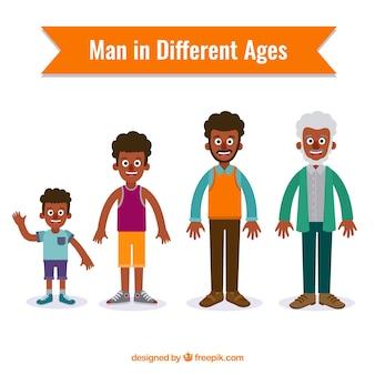 Hombres negros en diferentes edades