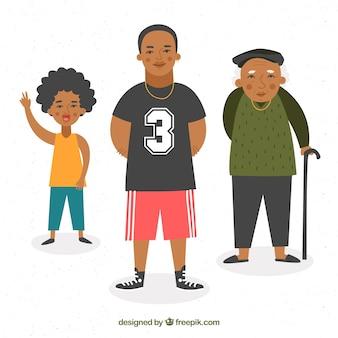 Hombres negros de diferentes edades