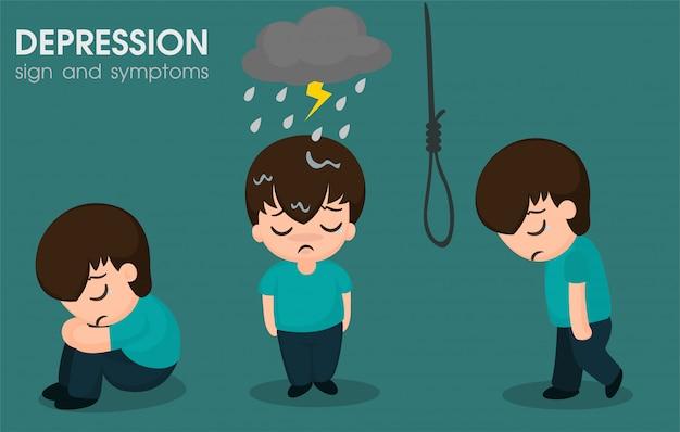 Hombres con síntomas bipolares.