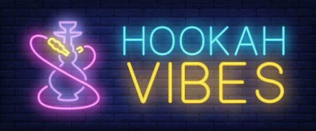 Hookah vibes letrero de neón