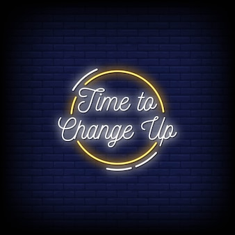 Hora de cambiar el texto del estilo de letreros de neón