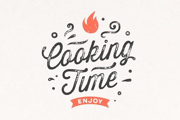 Hora de cocinar. cartel de cocina.