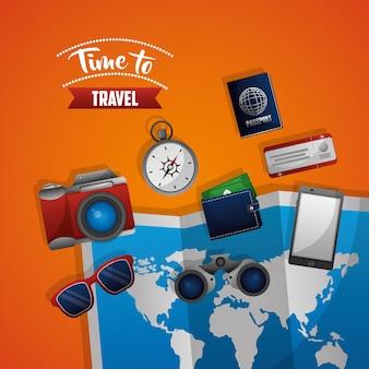 Hora de viajar mapa