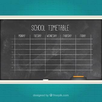 Horario escolar con tiza