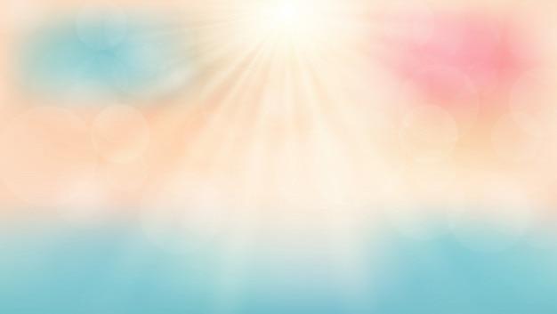 Horario de verano en la playa con el fondo del día de sol.